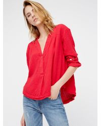 Free People | Red Changing Horizons Pullover | Lyst