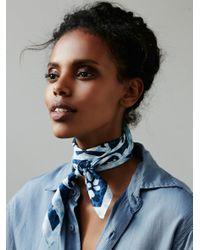 Free People   Blue Chelsea Printed Silk Bandana   Lyst