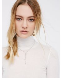 Free People - Metallic Chloe Delicate Chain Bolo - Lyst