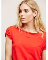 Free People - Red We The Free Clare Tee - Lyst