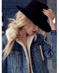 Free People | Black Clean Slate Felt Hat | Lyst