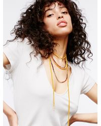 Free People - Multicolor Coastal Breeze Layered Necklace - Lyst