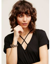 Free People | Black Concho Wrap Bracelet | Lyst