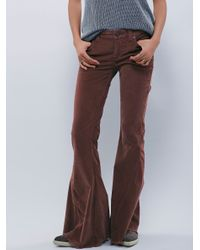 Free People | Brown Cord Super Flare | Lyst
