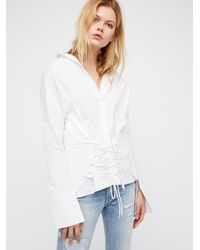 Free People - White Corset Top - Lyst