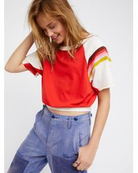 Free People | Red Cotton Candy Tee | Lyst