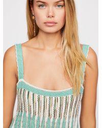 Free People - Green Rain Shadow Knit Maxi Dress - Lyst