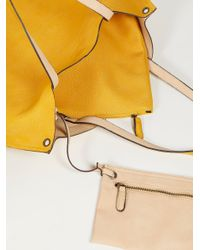 Free People Yellow Accessories Bags Slouchy Vegan Tote