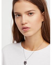 Free People - Metallic Shimmer Chain Locket Necklace - Lyst