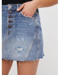 Free People - Blue Denim A-line Skirt By We The Free - Lyst