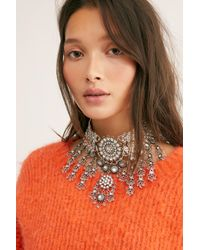 Free People - White New Rules Statement Necklace - Lyst