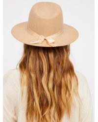 Free People Brown Nico Silk Band Felt Hat