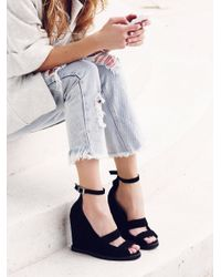 Free People | Black Dakota Wedge | Lyst