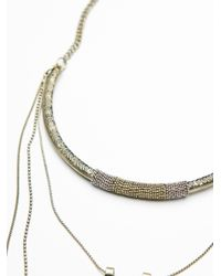Free People   Metallic Dany Tiered Drop Collar   Lyst