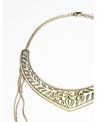 Free People - Metallic Dany Tiered Drop Collar - Lyst