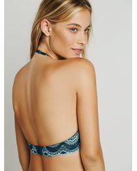 Free People - Blue Daring High Neck Underwire Bra Daring String Bikini - Lyst