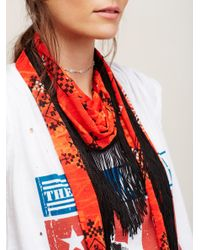 Free People | Red Daytripper Bandana Skinny | Lyst