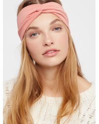 Free People - Brown All Day Solid Knit Turban - Lyst