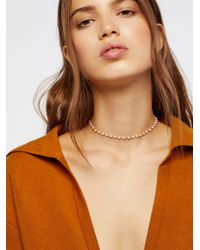 Free People - Brown Accessories Jewelry Necklaces Essential Stone Necklace - Lyst