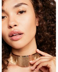 Free People - Metallic Cleopatra Collar Necklace - Lyst