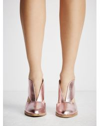 Free People Multicolor Deep V Ankle Boot