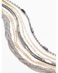Free People - Metallic Delicate Chain Multi Cuff - Lyst