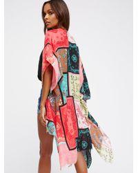 Free People Multicolor Voodoo Child Patchwork Kimono