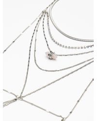 Free People - Metallic Diamond Cut Layering Necklace - Lyst