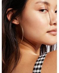 Free People - Metallic Diamond Dusted Mega Hoops - Lyst