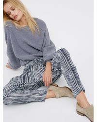Free People | Blue Dream On Gauze Pant | Lyst