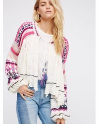 Free People | Multicolor Dreamland Knit Cardi | Lyst