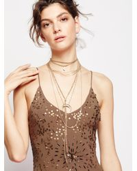 Free People | Brown Dylana Delicate Leather Bolo | Lyst