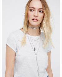Free People | Multicolor Dylana Delicate Leather Bolo | Lyst