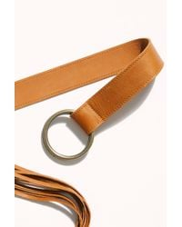 Free People Brown Esme Leather Wrap Belt By Ada Collection