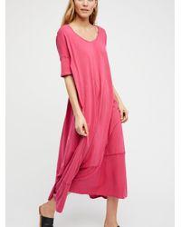 Free People - Pink Pebble Beach Maxi Dress - Lyst