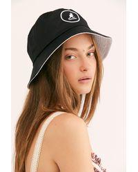 Free People Black Kangol Cotton Bucket Hat