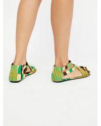 Free People - Green Woven Sandal - Lyst