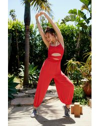 Free People - Red Wrap Onesie By Fp Movement - Lyst