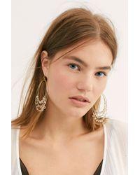 Free People Metallic Ventura Hoop Earrings