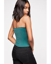 Free People - Green Seamless Sparkle Tube By Intimately - Lyst