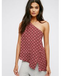 Free People | Red Echo's Moon Top | Lyst