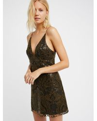 Free People Multicolor Night Shimmers Mini Dress