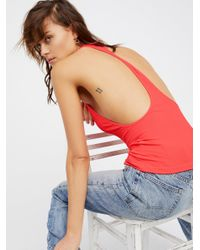Free People - Multicolor Extreme T-back Seamless Cami - Lyst