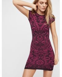 Free People - Purple Eleventh Hour Bodycon - Lyst