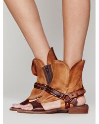Free People | Brown Everything Went West Sandal | Lyst