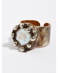 Free People Multicolor Pearl Monarch Ring