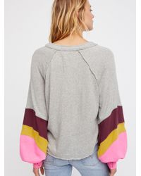 Free People Gray Clothes Tops & Tees Thermals & Henleys We The Free Winter Sun Henley