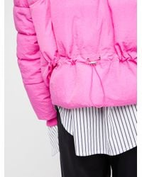 Free People Pink Cold Rush Puffer Coat
