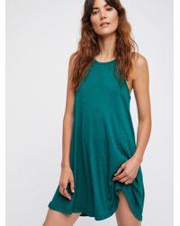 Free People - Green La Nite Mini Dress - Lyst