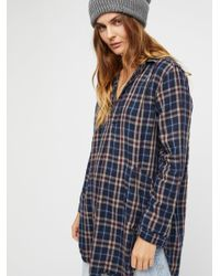 Free People Blue Clothes Tops & Tees Ash Doublecloth Tunic